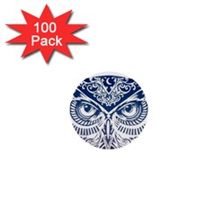 Owl 1  Mini Buttons (100 Pack)