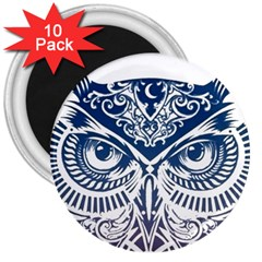Owl 3  Magnets (10 Pack)