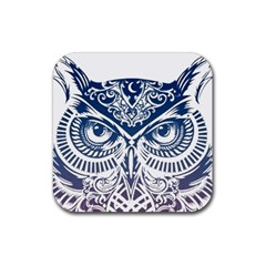 Owl Rubber Square Coaster (4 Pack)
