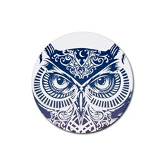 Owl Rubber Round Coaster (4 pack)