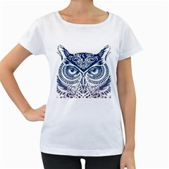 Owl Women s Loose Fit T Shirt (white)