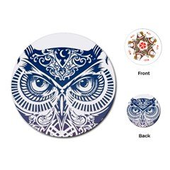 Owl Playing Cards (round)