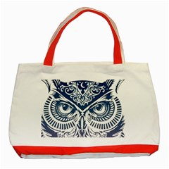 Owl Classic Tote Bag (red)