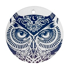 Owl Round Ornament (two Sides)