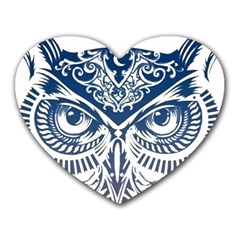 Owl Heart Mousepads