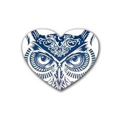 Owl Rubber Coaster (heart)