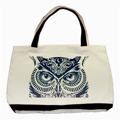 Owl Basic Tote Bag (Two Sides)
