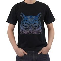Owl Men s T Shirt (black)