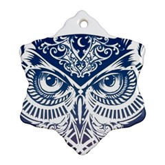 Owl Snowflake Ornament (two Sides)