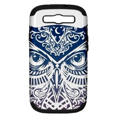 Owl Samsung Galaxy S Iii Hardshell Case (pc+silicone)
