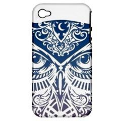 Owl Apple Iphone 4/4s Hardshell Case (pc+silicone)