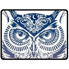 Owl Double Sided Fleece Blanket (large)