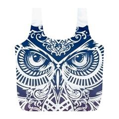 Owl Full Print Recycle Bags (l)