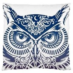 Owl Large Flano Cushion Case (one Side)
