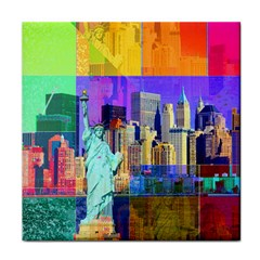 New York City The Statue Of Liberty Tile Coasters