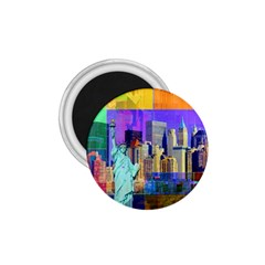 New York City The Statue Of Liberty 1.75  Magnets