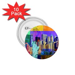 New York City The Statue Of Liberty 1.75  Buttons (10 pack)
