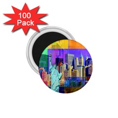 New York City The Statue Of Liberty 1.75  Magnets (100 pack)