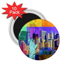 New York City The Statue Of Liberty 2 25  Magnets (10 Pack)
