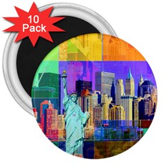 New York City The Statue Of Liberty 3  Magnets (10 pack)