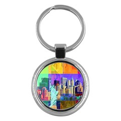 New York City The Statue Of Liberty Key Chains (round)