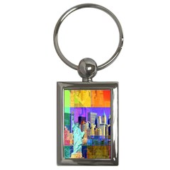 New York City The Statue Of Liberty Key Chains (rectangle)