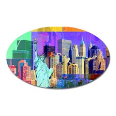 New York City The Statue Of Liberty Oval Magnet