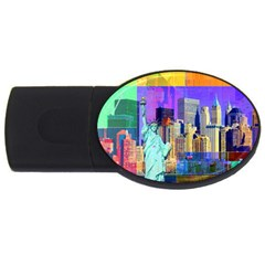 New York City The Statue Of Liberty Usb Flash Drive Oval (2 Gb)