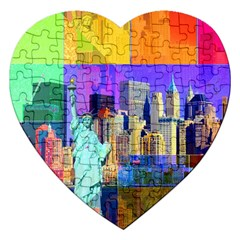 New York City The Statue Of Liberty Jigsaw Puzzle (Heart)