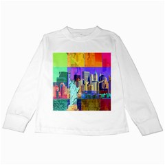 New York City The Statue Of Liberty Kids Long Sleeve T Shirts