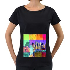 New York City The Statue Of Liberty Women s Loose Fit T Shirt (black)