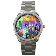 New York City The Statue Of Liberty Sport Metal Watch