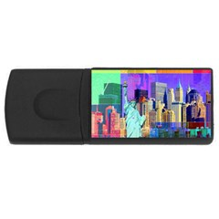 New York City The Statue Of Liberty Usb Flash Drive Rectangular (4 Gb)