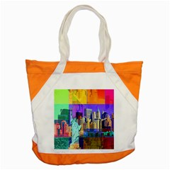 New York City The Statue Of Liberty Accent Tote Bag