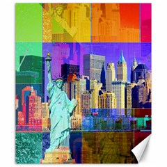 New York City The Statue Of Liberty Canvas 20  X 24