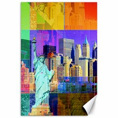 New York City The Statue Of Liberty Canvas 24  X 36