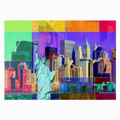New York City The Statue Of Liberty Large Glasses Cloth (2 Side)