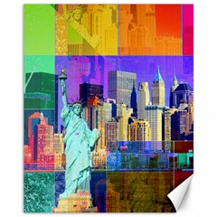 New York City The Statue Of Liberty Canvas 11  X 14