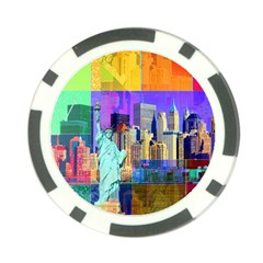 New York City The Statue Of Liberty Poker Chip Card Guard