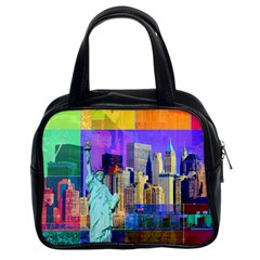 New York City The Statue Of Liberty Classic Handbags (2 Sides)