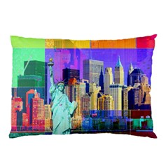 New York City The Statue Of Liberty Pillow Case