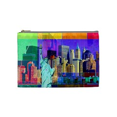 New York City The Statue Of Liberty Cosmetic Bag (medium)