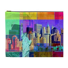 New York City The Statue Of Liberty Cosmetic Bag (xl)