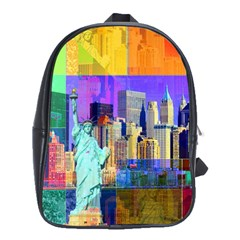 New York City The Statue Of Liberty School Bags(large)