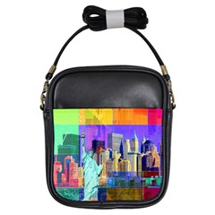 New York City The Statue Of Liberty Girls Sling Bags