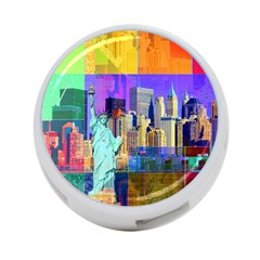 New York City The Statue Of Liberty 4 Port Usb Hub (two Sides)