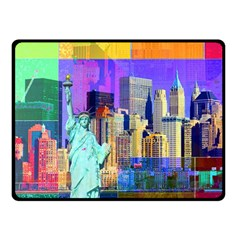 New York City The Statue Of Liberty Fleece Blanket (small)