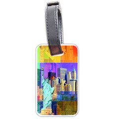 New York City The Statue Of Liberty Luggage Tags (one Side)