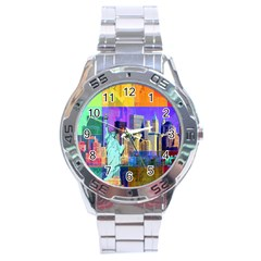 New York City The Statue Of Liberty Stainless Steel Analogue Watch
