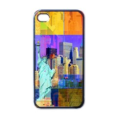New York City The Statue Of Liberty Apple iPhone 4 Case (Black)